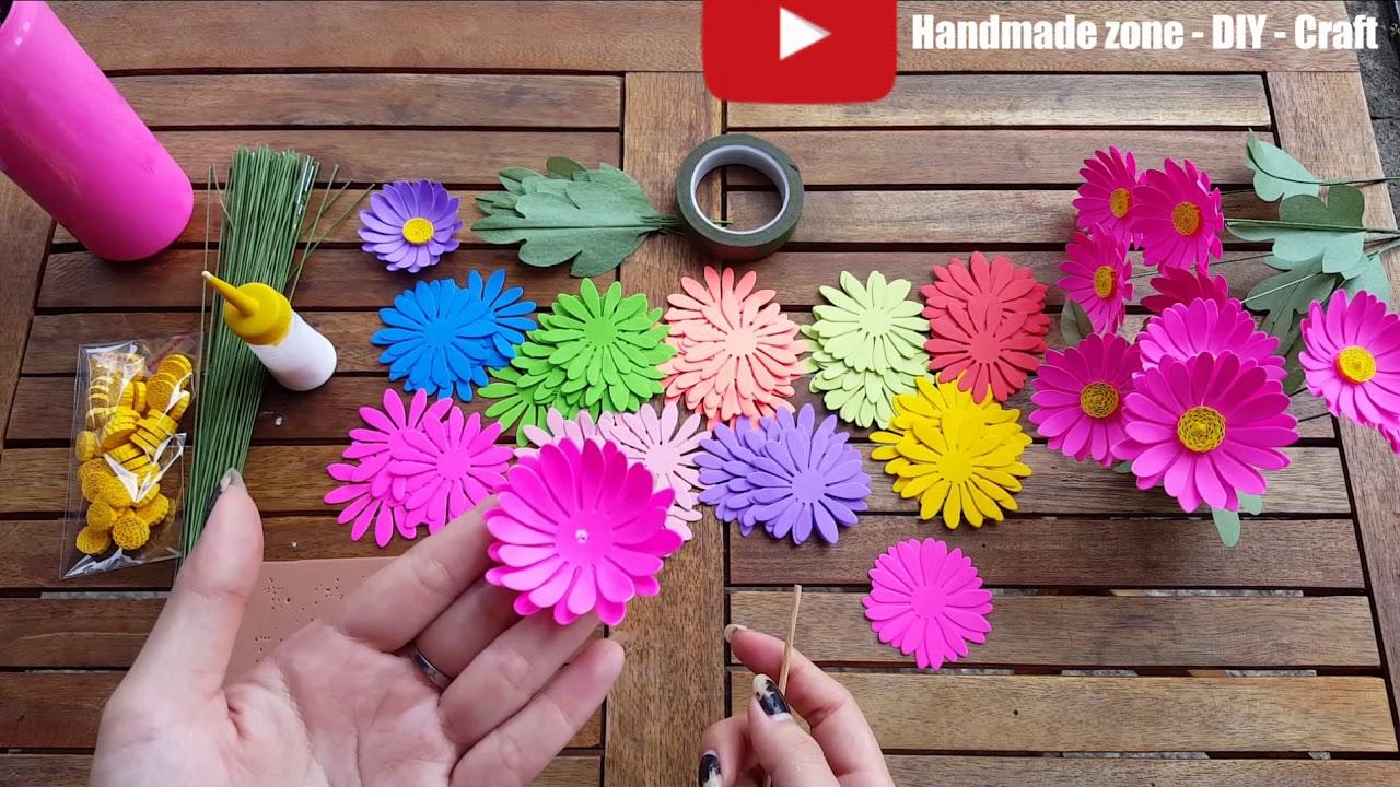 How to make daisy paper – Cách làm hoa cúc giấy handmade từ bộ kit CL60