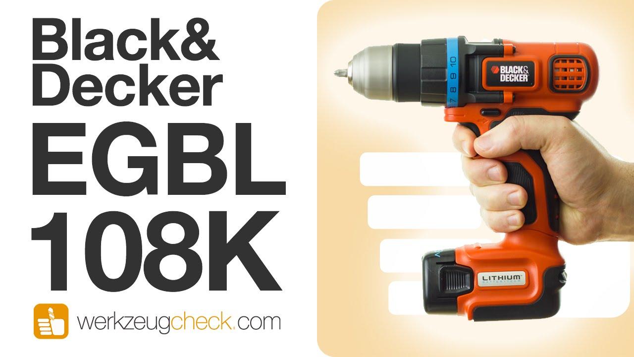 Black Decker Bohrschrauber Batterie Lithium EGBL108-FR 10,8V