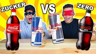 ZUCKER VS ZERO GETRÄNKE BLIND ERRATEN CHALLENGE !!!   Kelvin und Marvin