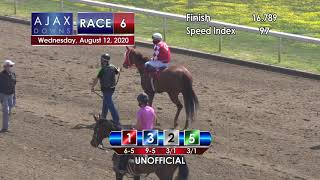 Ajax Downs August 12, 2020 Race 6