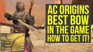 Assassin's Creed Origins Tips And Tricks BEST BOW IN THE GAME! (AC Origins Best Weapons)