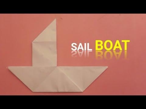how to make paper sailboat - easy origami sail boat - origami easy