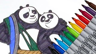Li Shan & Po Kung Fu Panda DreamWorks Animation Coloring page  2016 New HD Video for Kids