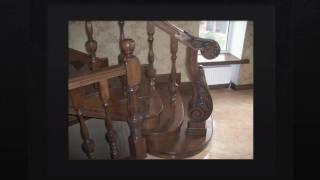 видео Деревянные лестницы в Краснодаре, лестницы из дерева