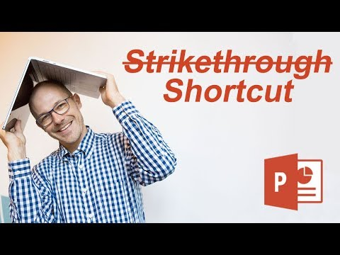 How To Use The Strikethrough Shortcut In PowerPoint (Cross Out Text Fast)
