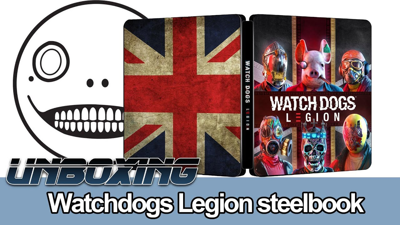 Unboxing Watchdogs Legion Steelbook Youtube