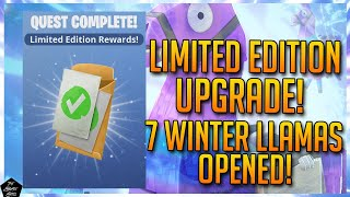 FORTNITE STW: UPGRADING TO LIMITED EDITION! TROLL STASH LLAMAS, GRATUIT UPGRADE LLAMAS - WINTER LLAMAS!