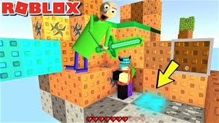 BALDI FOUND A DIAMOND!! PLAY MINECRAFT IN ROBLOX!! | The Weird Side of Roblox: SKYWARS