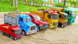 덤프트럭 포크레인 중장비 자동차 장난감 놀이 Dump Truck with Excavator Car Toy Play