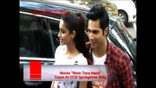 Movie Main Tera Hero Team At CCD Springtime Bldg