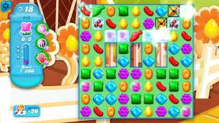 Candy Crush Soda Saga Level  915 ~ HARD ~ hot booster combo move TIPS!