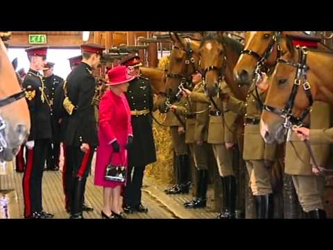 The Queen Visits The King's Troop Royal Horse Artillery