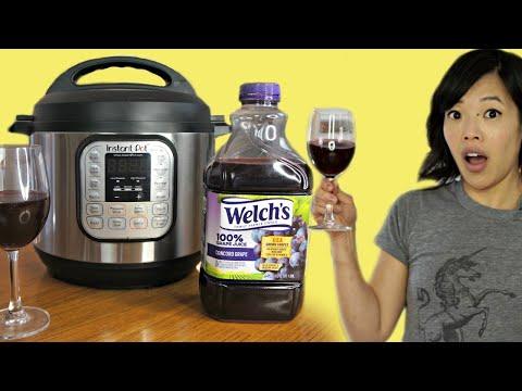 Instant Pot WINE - grape juice to wine? | FERMENTED