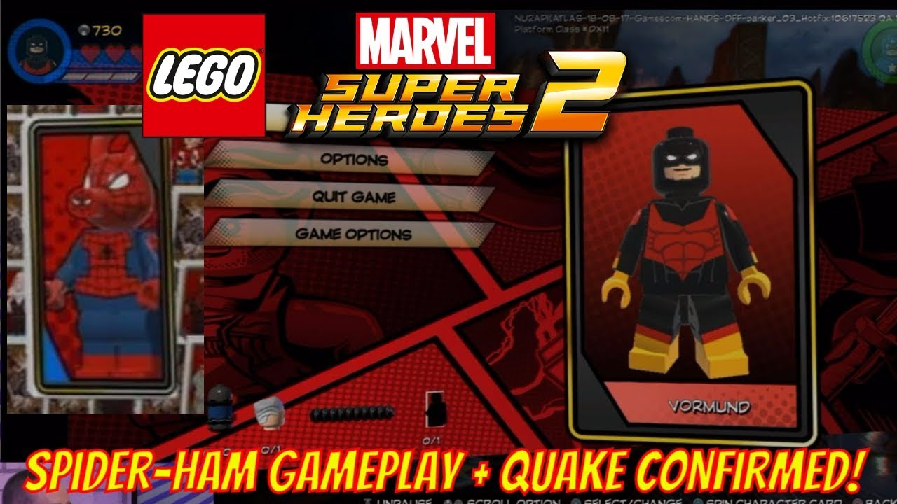LEGO Marvel Superheroes 2 News - Spider-Ham Gameplay, Quake Confirmed and  Character Cards!