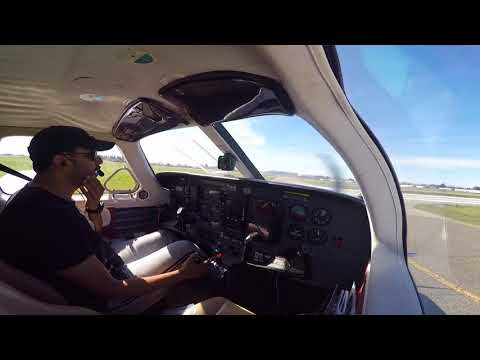 Piper Malibu  Taxi, Takeoff and Landing W/ATC audio and wing view