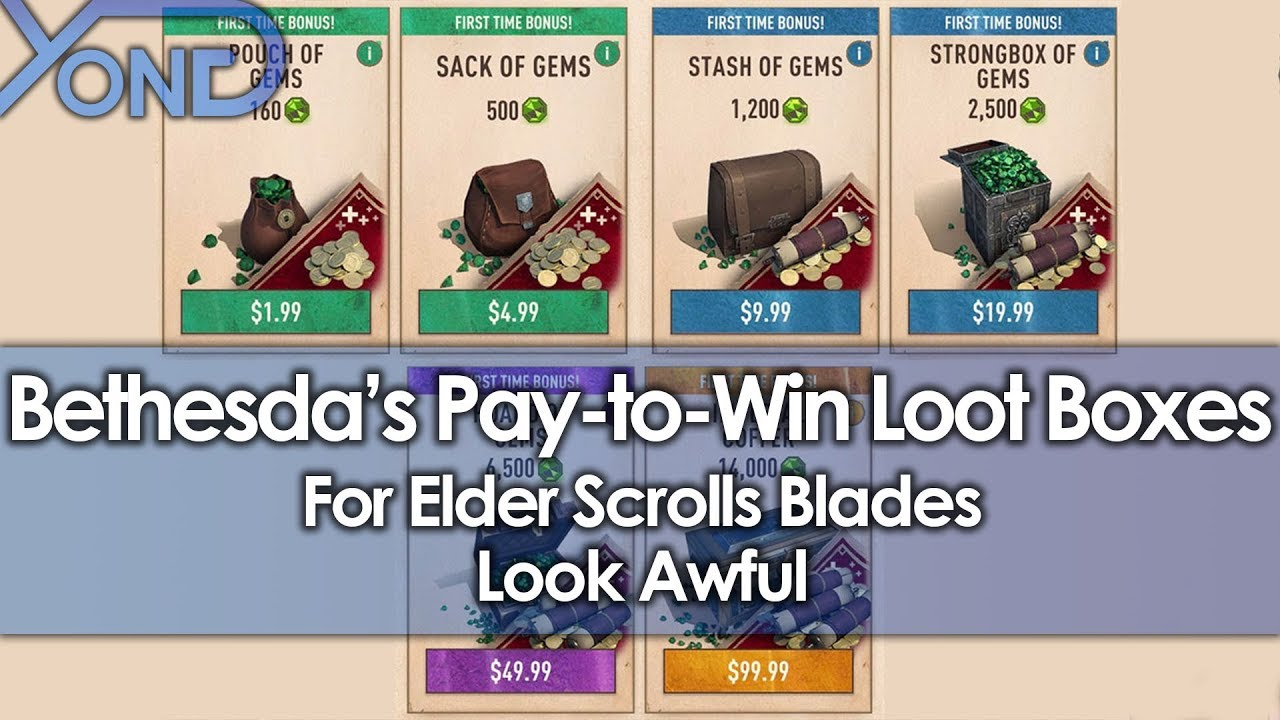 Bethesda's Pay-to-Win Loot Boxes for Elder Scrolls Blades Look Awful