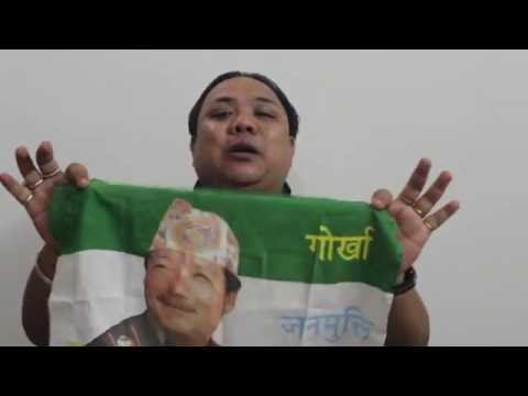 #NeerajZimbaTamang #GNLF Legal Adviser#Why did I wipe my face with the #Flag.