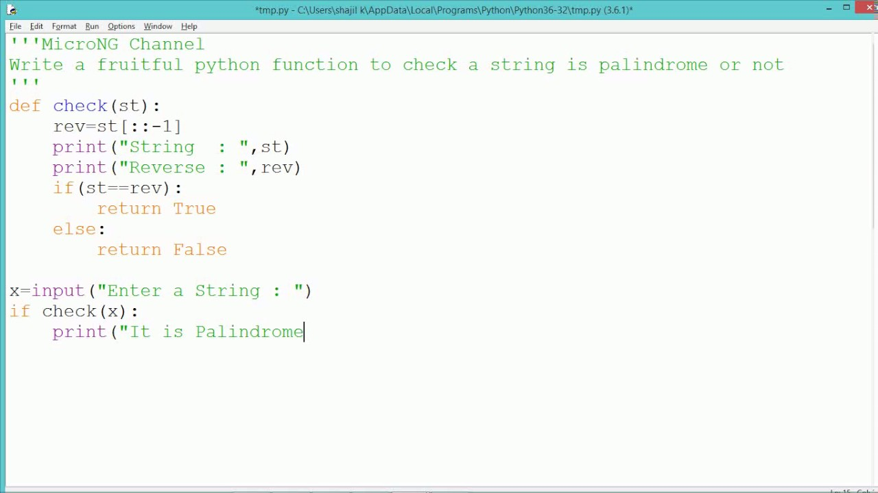 reverse function in python