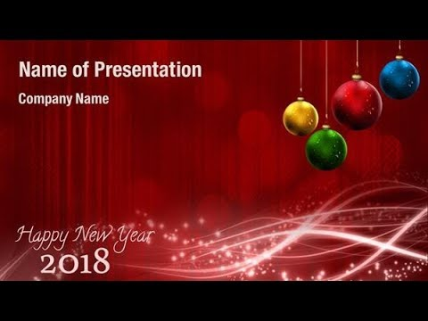 new year 2018 background powerpoint template backgrounds digitalofficepro 00793w