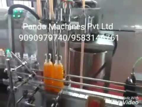 Automatic Juice filling machine, juice packing machine, juice factory, juice production line India