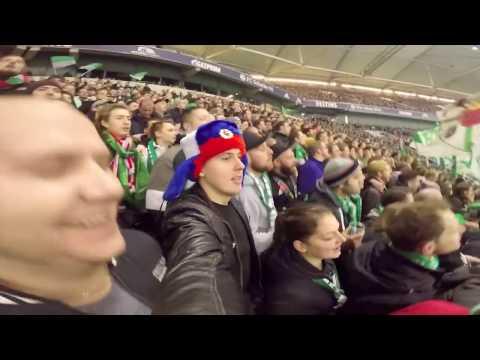 Bremen vs Schalke 04.На футбол в русской шапке ушанке в Германии.Чем заняться на выходные