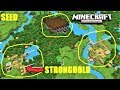 Minecraft PE - DOUBLE VILLAGE, STRONGHOLD & MANSION SEED ! 2 BLACKSMITHS | MCPE 1.2.1