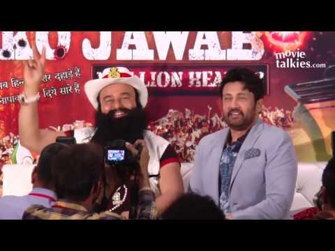 Hind Ke Napak Ko Jawab Movie Premiere Dr. Gurmeet Ram Rahim Singh Grand Entry At Dr.MSG