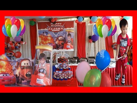 DISNEY CARS BIRTHDAY PARTY THEME ELISHA 2ND BIRTHDAY PARTY IN