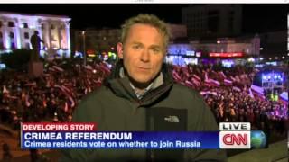CNN News. Крым. Народные гуляния. Репортаж от 16 марта 2014 г.