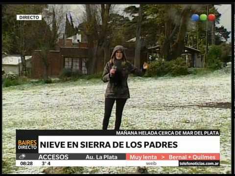 Nieve en la Sierra de los Padres - Telefe Noticias