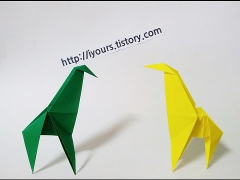 쉬운 기린 종이접기,Easy origami giraffe - YouTube - photo#28