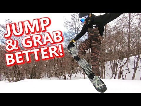 How To Jump & Grab Better Snowboarding