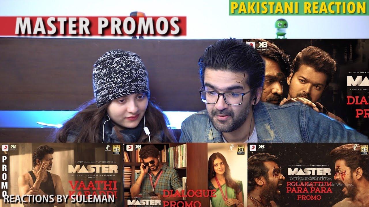 Pakistani Couple Reacts To Master Promos | Thalapathy Vijay