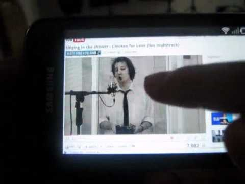Flash pada browser di Samsung Galaxy S (Super Clear LCD)