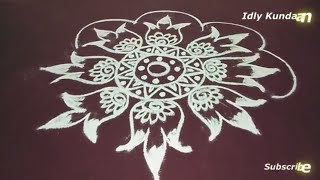 Easy Freehand Rangoli Kolam Without Dots | Simple Creative Muggulu Rangoli Designs