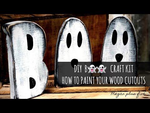 DIY Halloween CRAFT kit, how to paint your B👻👻 wood cutouts