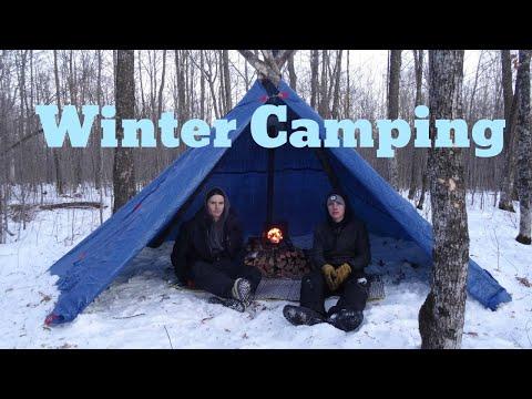 Winter Overnighter In DIY Hot Tent