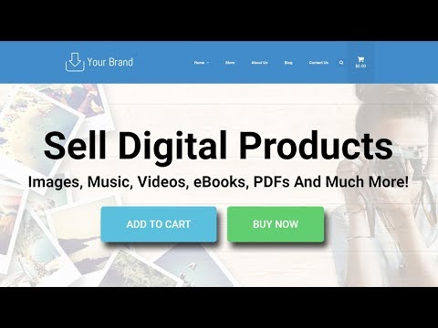 Make A WordPress Website To Sell Digital Downloads And Products. NO CODING NEEDED