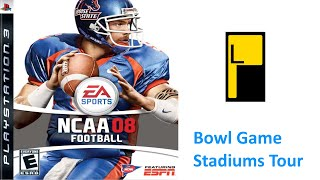 NCAA Football 08 PS3 Bowl Game Stadiums (4K60FPS)