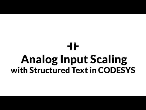 Analog Input Scaling with Structured Text in CODESYS