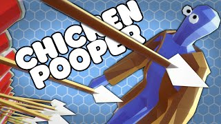 invincible shield wall vs chicken pooper totally accurate battle simulator gameplay