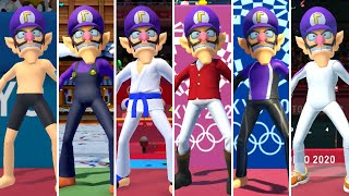 Mario & Sonic at the Olympic Games Tokyo 2020 - All Waluigi Outfits