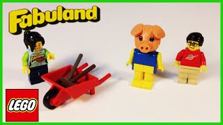 Lego Fabuland 325 Percy Pig And His Wheelbarrow From 1979