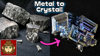 Growing High Quality and Large Bismuth Metal Crystals. (Even without a lot of metal.) How to.
