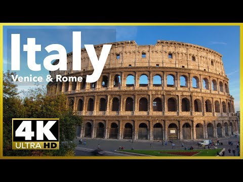 ITALY - VENICE & ROME Best Sites, 4K UHD Stock Video Footage