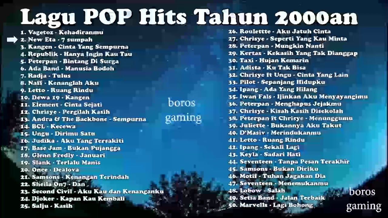 Download Lagu POP populer Tahun 2000an