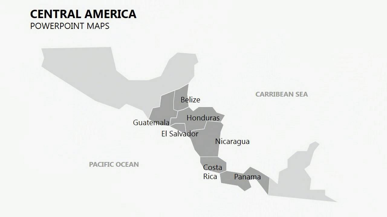 Central America maps - Complete Central America PowerPoint maps ...