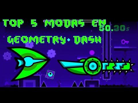 !!TOP 5 MODAS DE GEOMETRY DASH 2.1 -PASHO GD