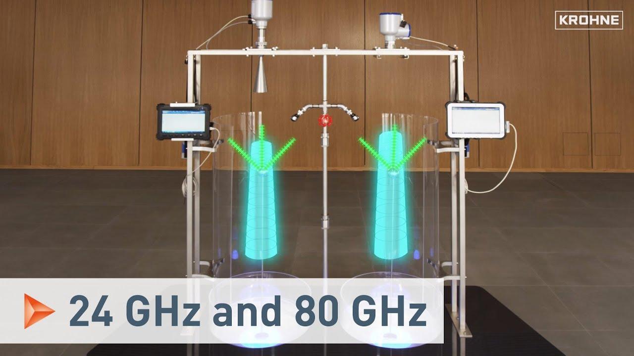 Fmcw Radar Füllstandmesstechnik 24 Ghz Und 80 Ghz Technologie Im Vergleich Krohne Youtube