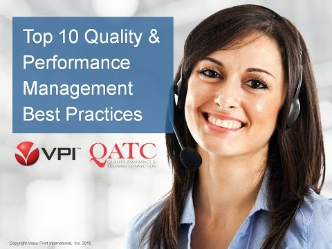 Top 10 Call Center Quality and Performance Management Best P